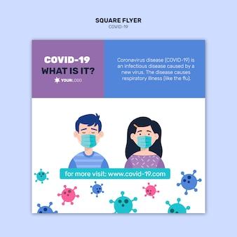Gut zu wissen, fakten über coronavirus square flyer