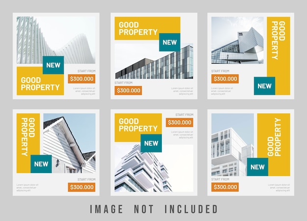 Guter immobilienverkauf instagram post template design