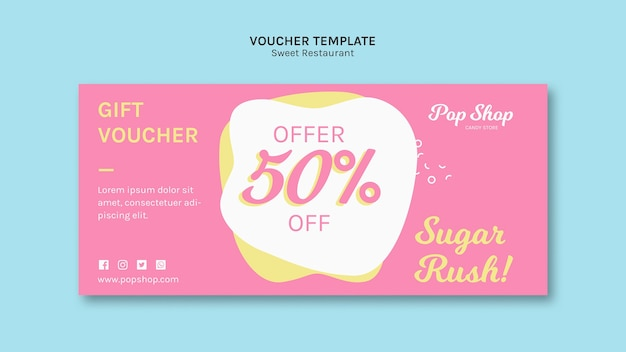 Gutschein für pop candy shop design