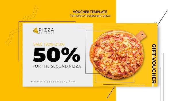 Gutscheinvorlage für pizzarestaurant