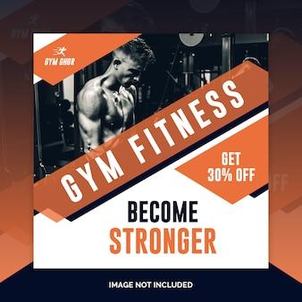 Gym banner oder quadratische flyer vorlage