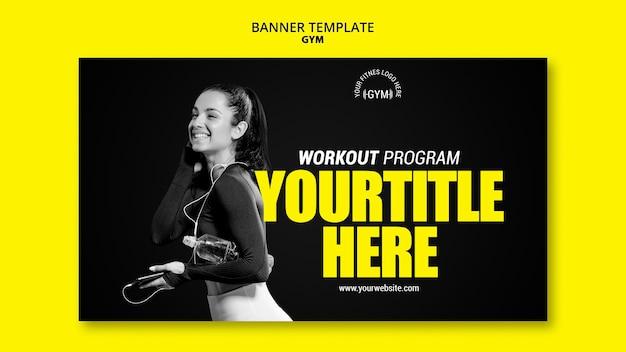 Gym banner vorlage konzept