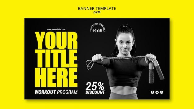 Gym banner vorlage