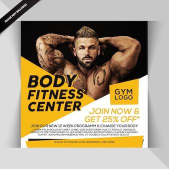 Gym fitness instagram post oder quadrat flyer vorlage