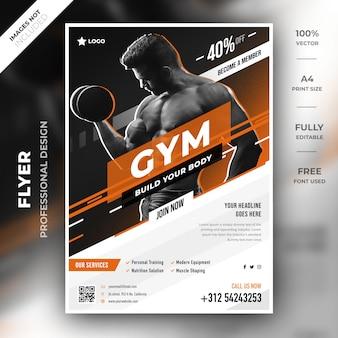 Gym flyer vorlage