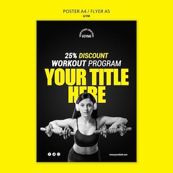 Gym poster vorlage thema