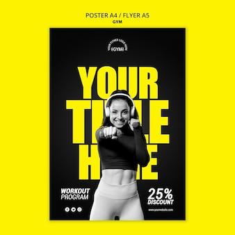 Gym poster vorlage
