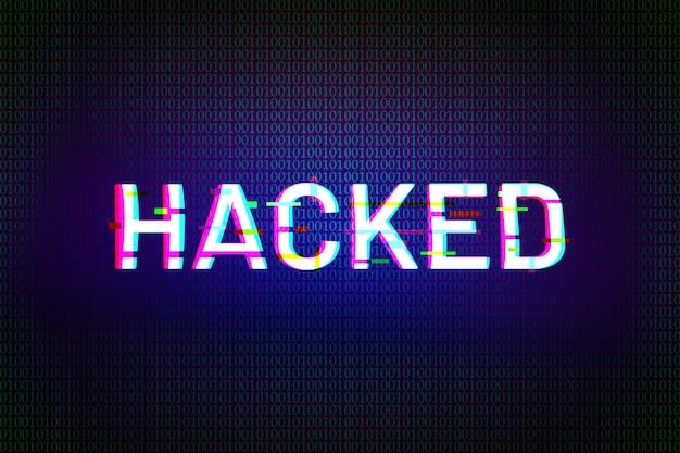 Hacked text-effekt, schriftstil