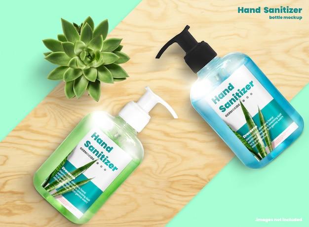 Händedesinfektionsmittel-modell von zwei alkoholgelpumpflasche