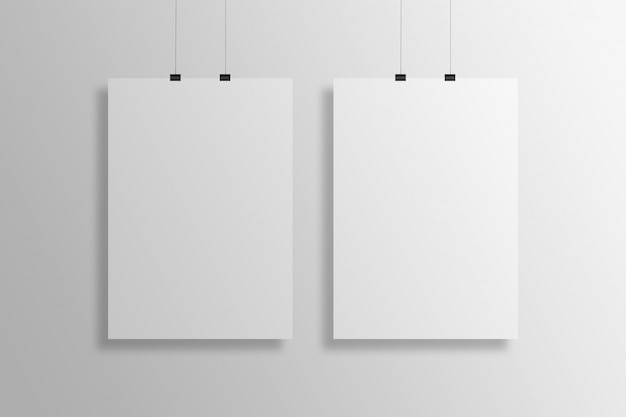 Hängende plakat-modellpräsentation im a4-format