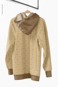 Hängendes hoodie-modell, rückansicht