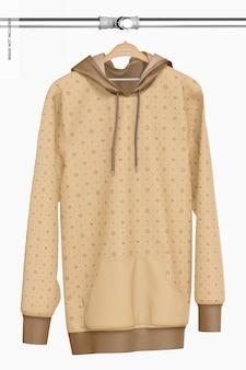 Hängendes hoodie-modell