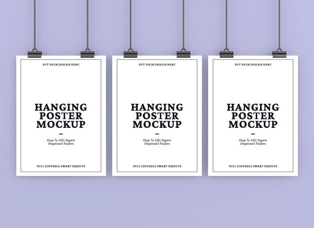 Hängendes poster-mockup-design