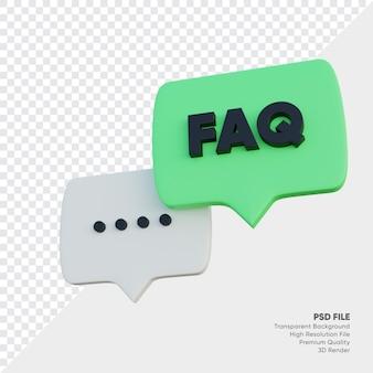 Häufig gestellte fragen, bubble-punkte und faq-text