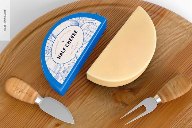 Halbes käsemodell, geöffnet