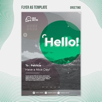 Hallo nachricht a5 flyer vorlage