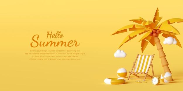 Hallo sommer design vorlage