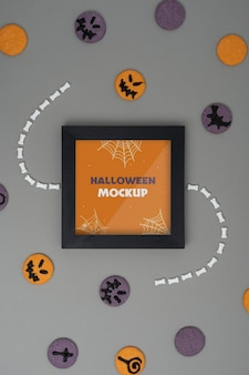 Halloween bordüren-mock-up-sortiment