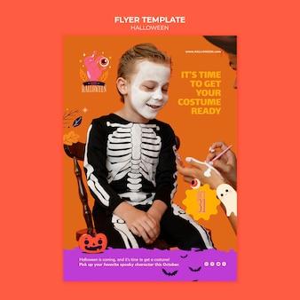Halloween druckvorlage mit foto