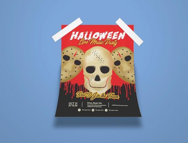 Halloween flyer mockup