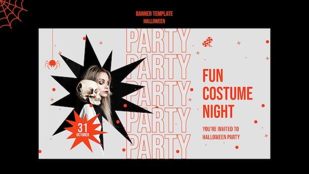 Halloween horizontales banner mit foto