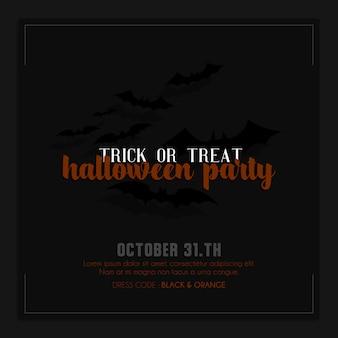 Halloween instagram instagram post oder banner vorlage