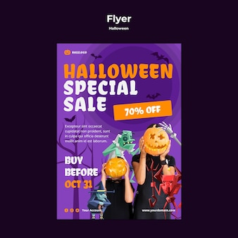 Halloween konzept flyer vorlage