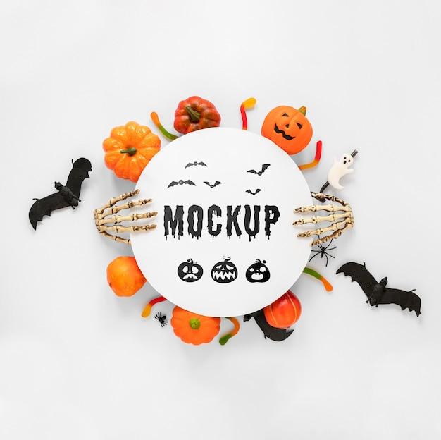 Halloween-konzept im mock-up-stil