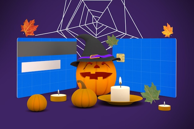 Halloween-kreditkarte