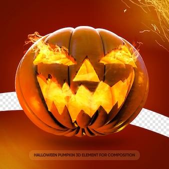 Halloween-kürbis 3d für zusammensetzung