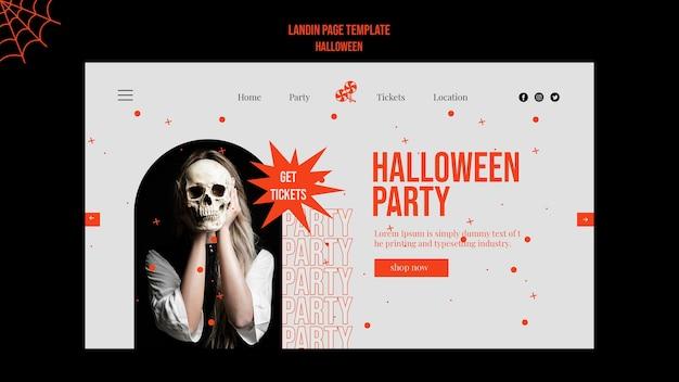 Halloween-landingpage mit foto