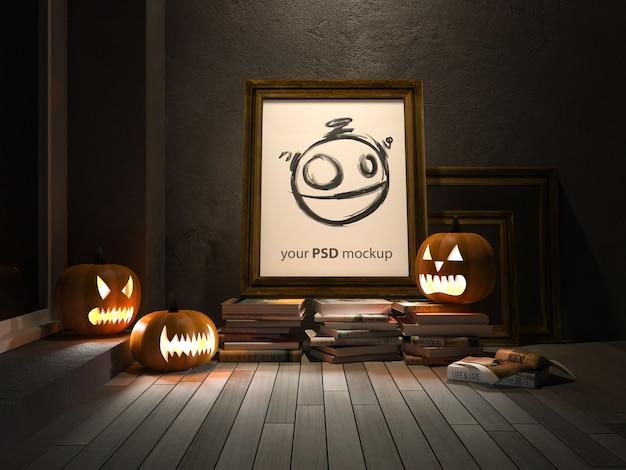 Halloween-modell mit rahmen