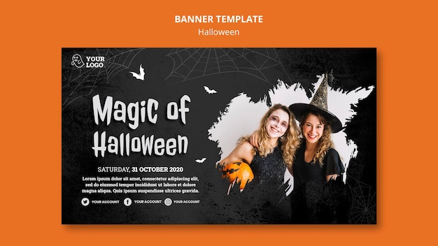 Halloween party banner vorlage