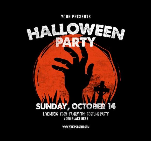 Halloween-party facebook und instagram beitragsvorlage