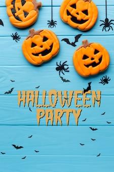 Halloween-party mit süßen leckereien