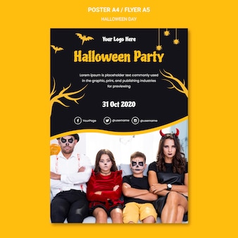 Halloween party poster vorlage