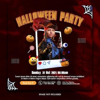 Halloween party social media banner vorlage premium psd Premium PSD