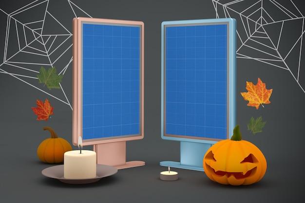 Halloween-plakatwand