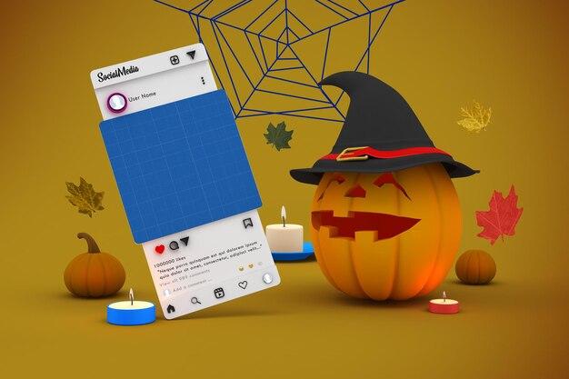 Halloween-social-media-modell
