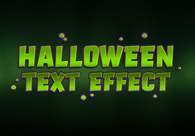 Halloween-text-effekt-modell