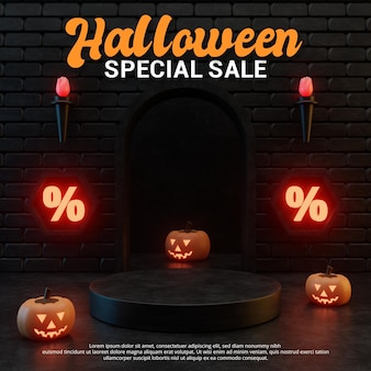 Halloween-themen-werbeaktions-podium-design