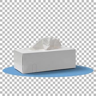 Halter mit papiertaschentüchern isoliert auf transparent