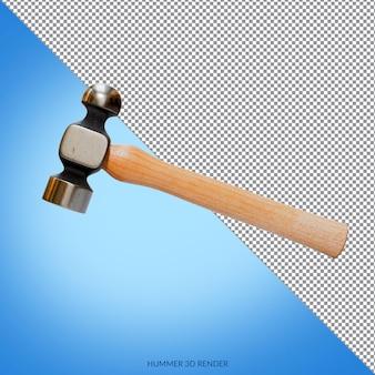Hammer 3d render design isoliert