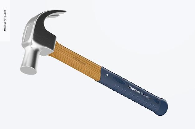 Hammer mockup, fallend