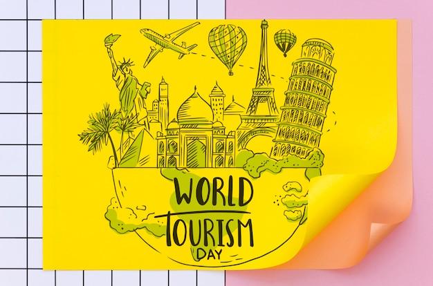 Han zeichnete tourismusgeometriepapier