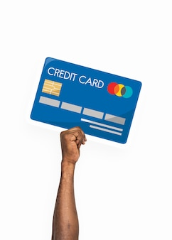Hand, die kreditkarte clipart hält