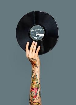 Hand mit festplatte