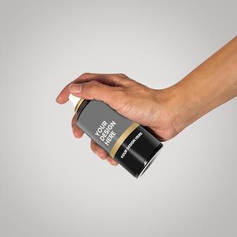 Hand mit sprühflaschenmodell