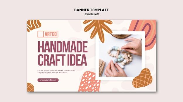 Handcraft banner vorlage