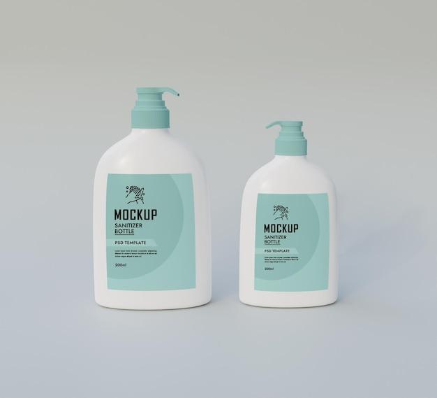 Handdesinfektionsflasche mockup psd premium